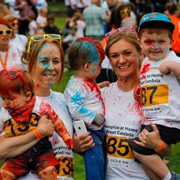 Cumbria's Number One Colour Run remains bright